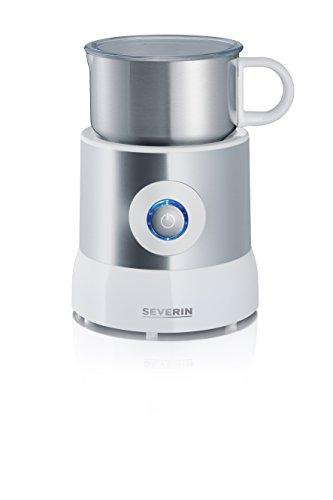 Severin SM 9684 Milchaufschäumer 500 Watt, Induktion, 500 ml, kaltes und warmes Aufschäumen Edelstahl/weiß