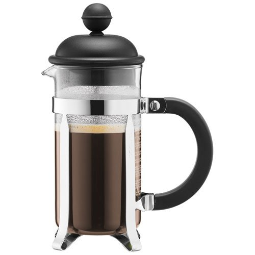 Bodum CAFFETTIERA Kaffeebereiter French Press System, Permanent Edelstahlfilter, 0,35 liters schwarz