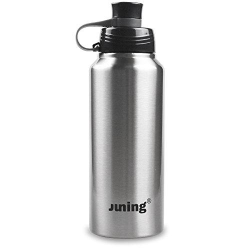 Juning Sport 18/10 WasserFlasche Thermosflasche 900ml Isolierte Edelstahlflasche, Geeignet für den Außen, Sporthalle.