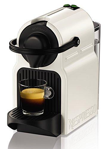 Krups Nespresso XN1001 Inissia Kaffeekapselmaschine 19 bar, inklusive Welcome Pack mit 16 Kapseln weiß