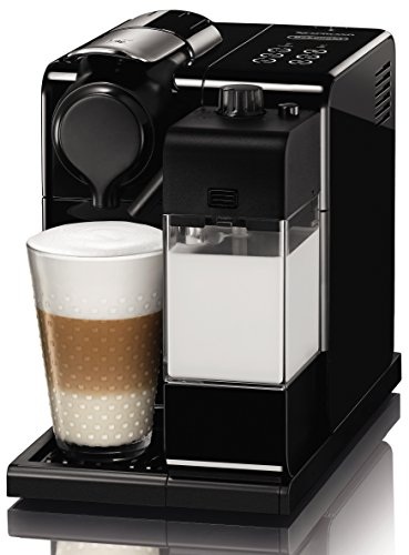 DeLonghi Nespresso EN 550.B Lattissima Touch Kapselmaschine 1400 Watt, inklusiv Welcome Pack mit 16 Kapseln schwarz