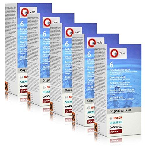5x Bosch TCZ6002 Entkalkungstabletten für Kaffee Vollautomaten