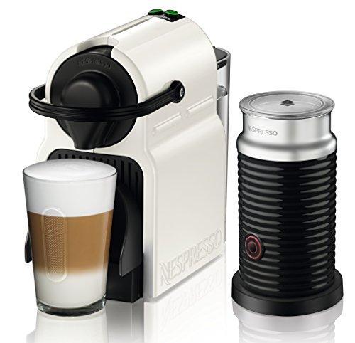 Krups Nespresso XN1011 Inissia Bundle Kaffeekapselmaschine, inklusive Aeroccino 3, weiß