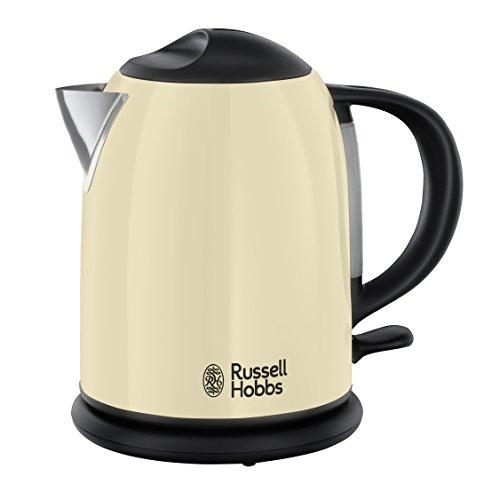 Russell Hobbs 20194-70 Colours Plus+ Classic Cream Kompakt-Wasserkocher, Schnellkochfunktion, Perfect-Pour-Ausgusstülle, 1 L, 2200 Watt, creme