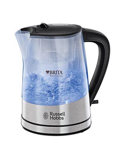 Russell Hobbs 22850-70 Purity Wasserkocher mit integriertem Brita Wasserfilter, elektronische Kartuschenwechselanzeige, 2,200 W