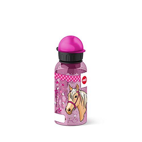 Emsa Kinder-Trinkflasche, 400 ml, Sicherheitsverschluss, Kids Horse, Tritan, 518126