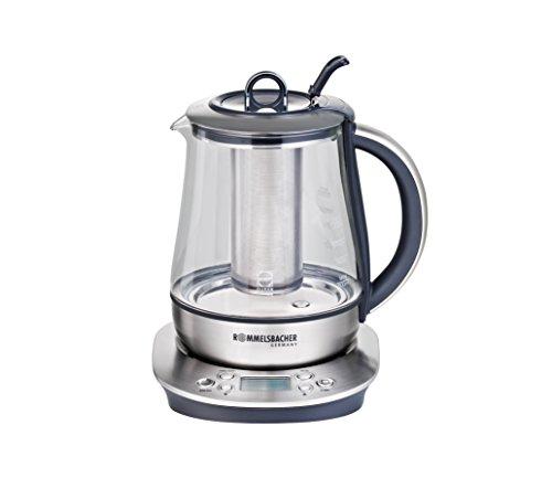 Rommelsbacher TA 1400 Tee-/Wasserkocher, 1.2 L, 1400 W, edelstahl / glas