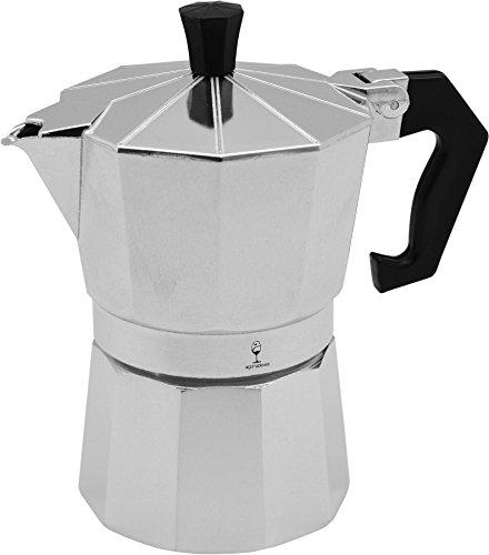 Argon Tableware 3 Cup Italianische Herd Kaffeemaschine. Traditionelles Design