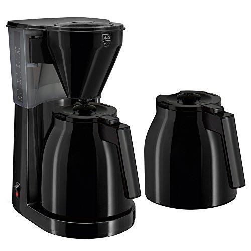Melitta 1010-06 Easy Therm Kaffeefiltermaschine – Zweite Thermkanne- Tropfstopp – Schwenkfilter, Schwarz