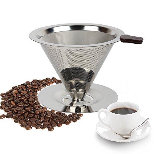 Edelstahl Kaffee Dripper Kaffee Filter für Pour-Over Brauen und straffenden Tee & andere Getränke