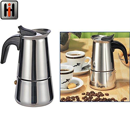 6 tassen italienischer espressokocher f r den herd mokka kaffeekanne von kurtzy hochwertige