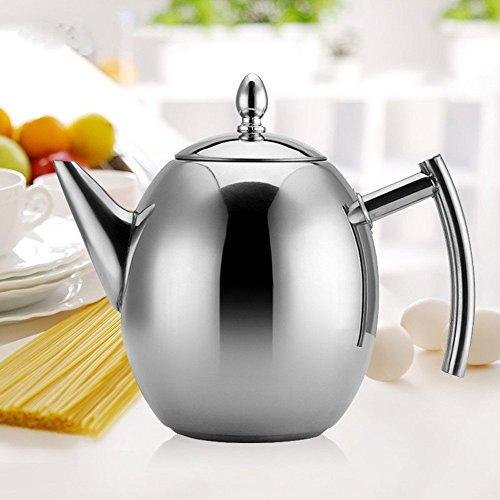haosen 1 5l teekanne edelstahl mit siebeinsatz kaffeekanne kein magnet oliven kaffeekanne. Black Bedroom Furniture Sets. Home Design Ideas