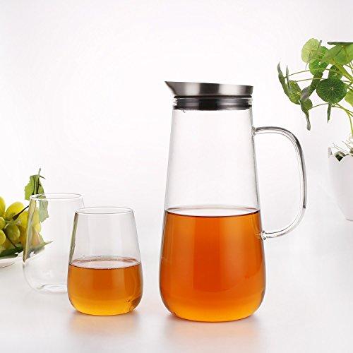 Glaskaraffe 2 Liter : homfa 1 5 liter glaskaraffe mit 2 gl sern aus ~ A.2002-acura-tl-radio.info Haus und Dekorationen