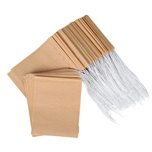 einweg teebeutel aus nat rlichem ungebleichtem papier mit kordelzug f r losen tee 200 st ck. Black Bedroom Furniture Sets. Home Design Ideas