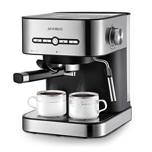 aevobas kaffeemaschine espresso espressomaschine 15 bar mit milchaufsch umer f r cappuccino. Black Bedroom Furniture Sets. Home Design Ideas
