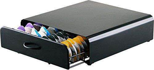 Tassimo Kaffee Kapselhalter – Ständer mit netzförmigen Fächern – Tassimo Padhalter -Mattschwarz – zur Aufbewahrung von 64 Kapseln in einem Stapelständer