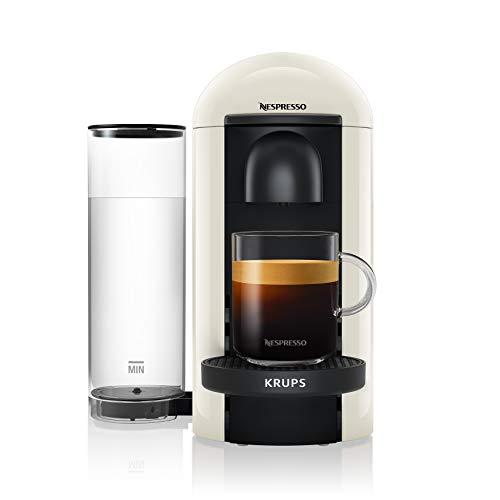 Krups Nespresso XN9031 Vertuo Plus Kaffeekapselmaschine, Automatische Kapselerkennung, 1,1 l Wassertank, 5 Tassengrößen, Weiß