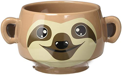 Thumbs Up Sloth Mug-Faultier Tasse, Keramik, braun, 14.5 x 9.5 x 8 cm