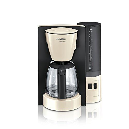 Bosch TKA6A047 ComfortLine Filterkaffeemaschine 1200 Watt, Glas-Kanne, automatische Abschaltung, Creme/Black Grey