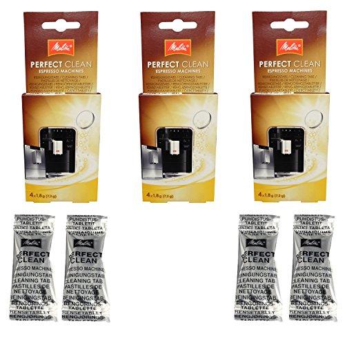 1500791 – – 3er Pack Melitta Perfect Clean Kaffeevollautomaten Inhalt 4 Tabs à 1,8g