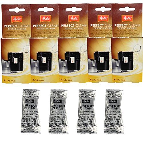 1500791 – – 5er Pack Melitta Perfect Clean Kaffeevollautomaten Inhalt 4 Tabs à 1,8g