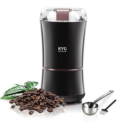 KYG Kaffeemühle Elektro-Nüsse Samen und Gewürze, 300W pontecia Mahlt schnell mit Klingen aus Edelstahl