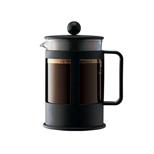 Bodum KENYA Kaffeebereiter French Press System, Spülmaschinengeeignet, 0,5 liters schwarz