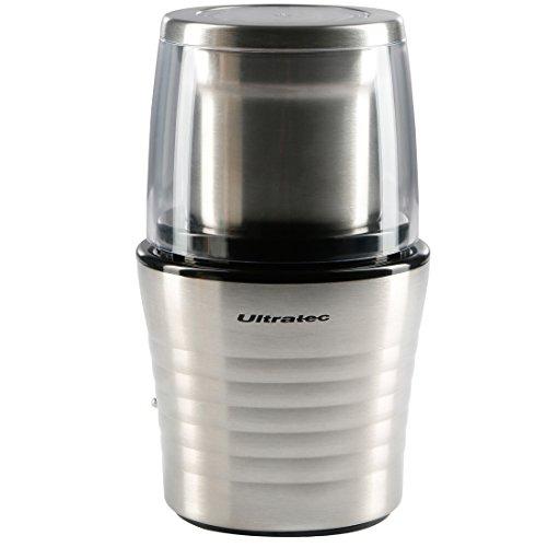 Ultratec Kaffeemühle für bis zu 70 g Kaffee, Edelstahl