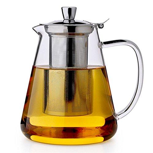 Pluiesoleil Teekanne mit Filter Große Teekanne mit hitzebeständigem Edelstahl-Infuser Perfekt für Tee und Kaffee-750ml