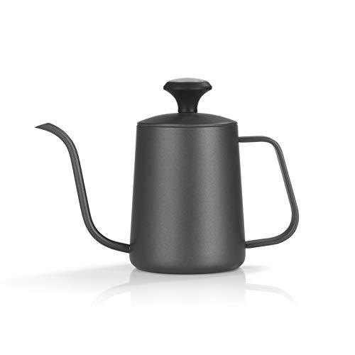 Beem Pour Over Wasserkessel mit Thermometer-0,5 l | Classic Selection | Edelstahl | Schwarz | Schwanenhals | 4 Tassen Kaffee oder Tee aufbrühen