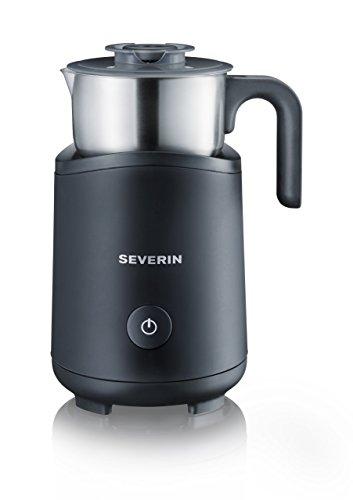Severin SM 9495 Milchaufschäumer 500 Watt Induktion 180 ml abnehmbar Edelstahl schwarz Zertifiziert und Generalüberholt