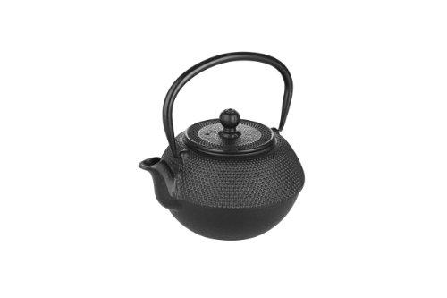 IBILI Teekanne-Set Oriental mit Filter 0,3 l in schwarz, Gusseisen, 13 x 13 x 9 cm 3-Einheiten