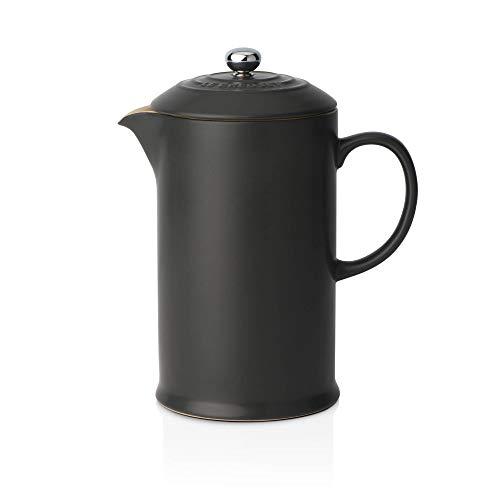 Le Creuset Steinzeug Kaffee-Bereiter, schwarz, 0,75 l