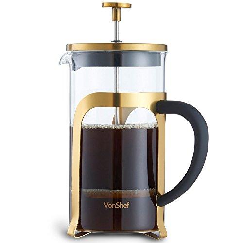 VonShef 8 Gläser French Press Cafetière Kaffeemaschine