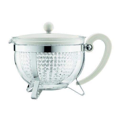 CHAMBORD: Teekanne, 1.3 l, mit farbigem Plastikdeckel, Griff und transparentem Filter