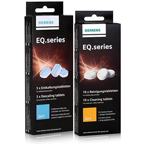 Siemens EQ.series Pflegeset – Entkalker TZ80002 & Reinigungstabletten TZ80001