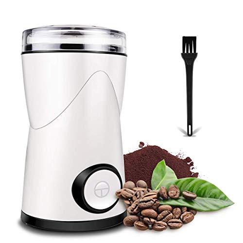 Elektrische Kaffeemühle Einstellbar 150W ● Schrotmühle, Gewürzmühle, Nussmühle ● CE-konform ● Sicherheit und Präzision für 70g Kaffeebohnen, Nuß und Gewürz, Sicherheitsschalter, Sicherheitsschloss