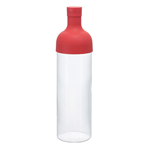 Hario Filter Bottle 750ml Red FIB-75-R Japan Import, Kunststoff, rot 10 x 10 x 25 cm