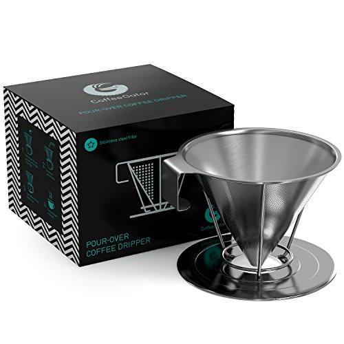 von Coffee Gator – Wiederverwendbarer Kaffeefilter aus Rostfreiem Konischen Stahl – Einzigartiger Filter für Kaffee ohne Papierreste