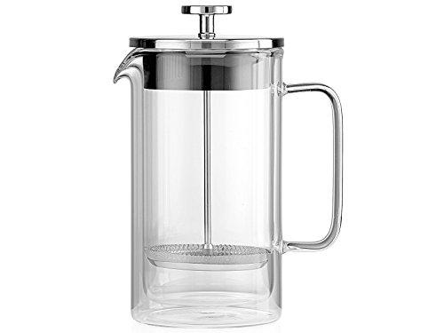 La Cafetiere Kaffeemaschine, Glas, Silber, 23.6 x 16 x 15.8 cm