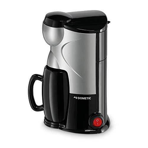 Dometic PerfectCoffee MC 01, Reise-Kaffeemaschine, 12 V, 170 W, für Auto, LKW oder Boot, schwarz/silber