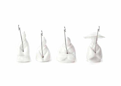 Kikkerland Teebeutelhalter, Kunststoff, Weiß, 10.2 x 12.2 x 3 cm