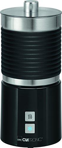 Clatronic MS 3654 Milchaufschäumer, Edelstahlbehälter, warm-und kalt aufschäumen, schwarz