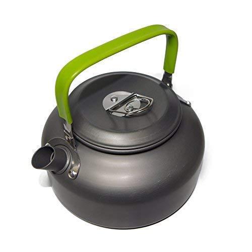 Ecent Tragbar Aluminium Camping Wasserkocher Kessel Teekanne Kaffeekanne für Outdoor Picknick Wandern 0,8L