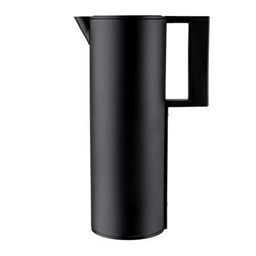 hält bis 12h warm/kalt – BPA Frei – Cucina Sana 1L Design Thermoskanne/Isolierkanne, Kaffeekanne/Teekanne aus Edelstahl schwarz matt