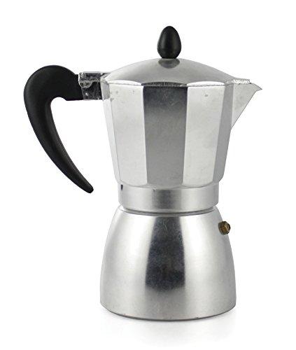 GALILEO 2175874 Espressokanne, 3 Tasse, runde Basis