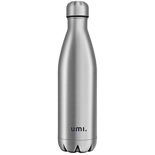 Umi. Essentials Vakuum Isolierte Edelstahl Trinkflasche Thermosflasche, BPA Frei Wasserflasche Auslaufsicher – 750ml SportFlasche für Sport, Outdoor, Büro, Kinder, Schule, Kleinkinder, Kindergarten