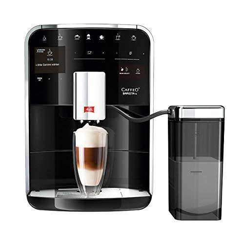 Melitta Caffeo Barista TS Smart F850-102, Kaffeevollautomat mit Milchbehälter, Smartphone-Steuerung mit Connect App, One Touch Funktion, Schwarz