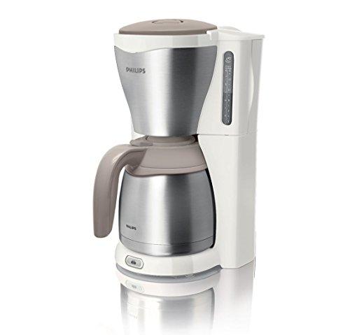 Philips HD7546/00 Gaia Filter-Kaffeemaschine mit Thermo-Kanne, weiß/beige/metall