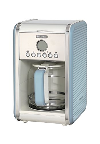 Ariete 1342BL 12-Tassen-Kaffeemaschine Vintage, 2000 W, blau